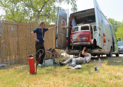 Reparaties onderweg